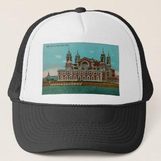 Vintage Ellis Island, New York City Trucker Hat