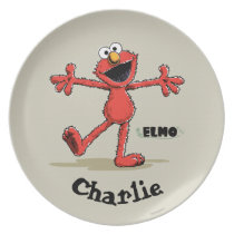 Vintage Elmo | Add Your Name Melamine Plate