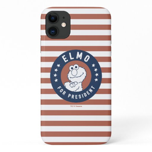 Vintage Elmo for President Badge iPhone 11 Case