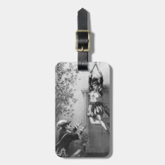 Vintage Eloping Couple Baggage Tag at Zazzle