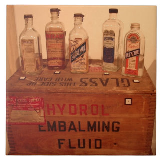 Vintage Embalming Fluid Photo Tile