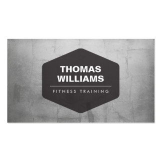 VINTAGE EMBLEM LOGO on METALLIC SILVER Double-Sided Standard Business Cards (Pack Of 100)
