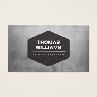 VINTAGE EMBLEM LOGO on METALLIC SILVER Business Card