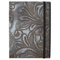 Vintage Embossed Brown Leather iPad Pro Case