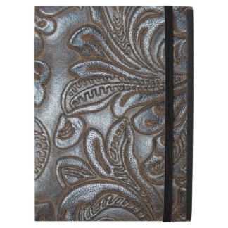 Vintage Embossed Brown Leather iPad Pro Case