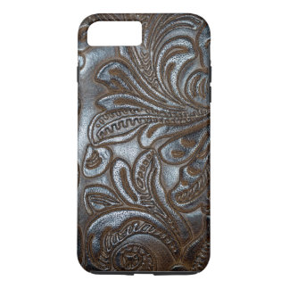 Vintage Embossed Brown Leather iPhone 7 Plus Case