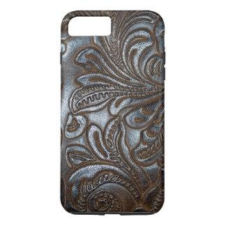 Vintage Embossed Brown Leather iPhone 7 Plus Case