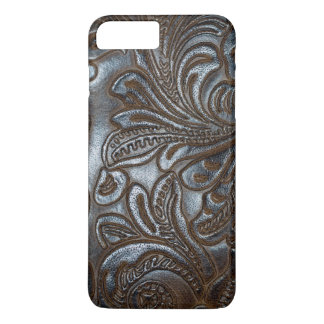 Vintage Embossed Brown Leather iPhone 8 Plus/7 Plus Case