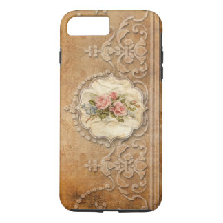 Vintage Embossed Gold Scrollwork and Roses iPhone 7 Plus Case