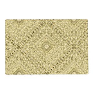 Vintage Embossed Metallic Gold Foil Floral Design Placemat