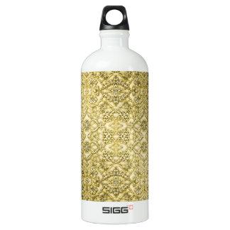 Vintage Embossed Metallic Gold Foil Floral Design SIGG Traveler 1.0L Water Bottle