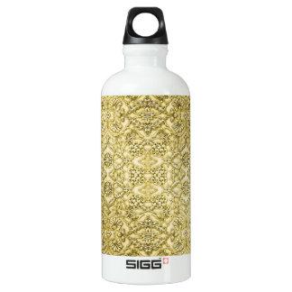 Vintage Embossed Metallic Gold Foil Floral Design SIGG Traveler 0.6L Water Bottle