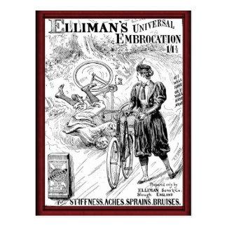 Vintage embrocation advertisement postcard