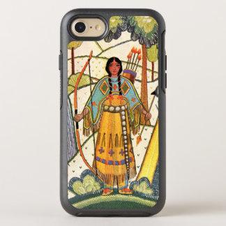 Vintage Embroidered Look Native American Girl OtterBox Symmetry iPhone 7 Case