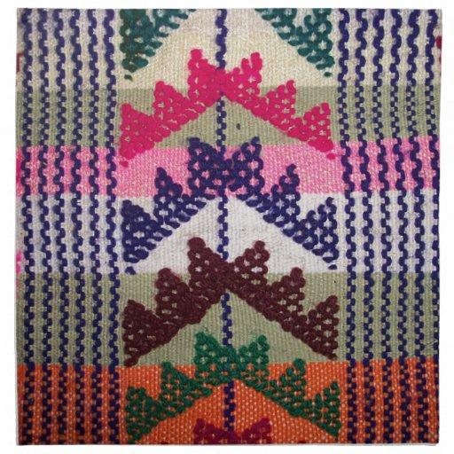 Vintage Embroidered Pattern Printed Napkin