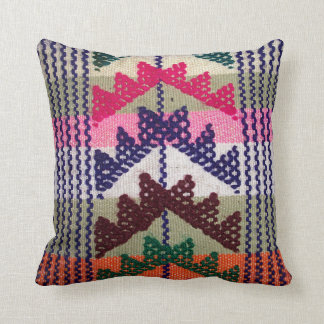 Vintage Embroidered Pattern Throw Pillow