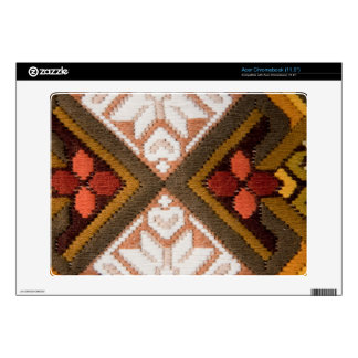 Vintage embroidery acer chromebook decals