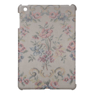 Vintage Embroidery Needlepoint Rose Tapestry iPad Mini Cover