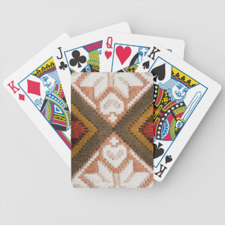 Vintage embroidery playing cards