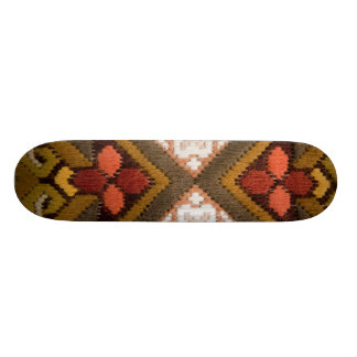 Vintage embroidery skateboard