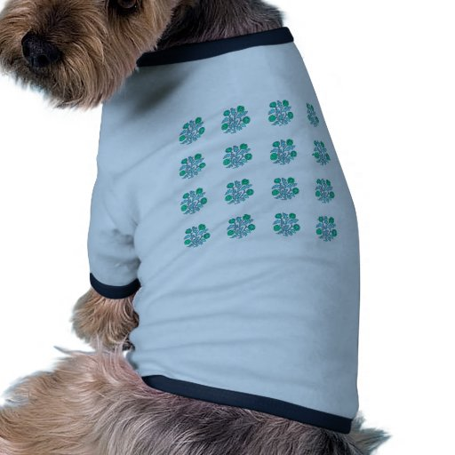Vintage Embroidery Style Flowers Pet Shirt