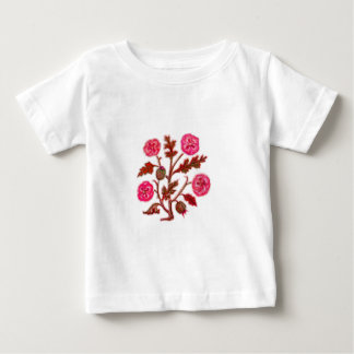Vintage Embroidery Style Flowers Shirt