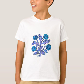 Vintage Embroidery Style Flowers T-Shirt