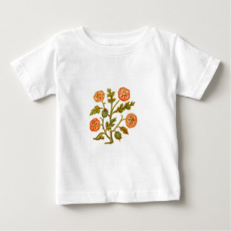 Vintage Embroidery Style Flowers Tee Shirt