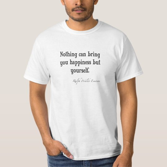 Vintage Emerson Happiness Inspirational Quote T-Shirt