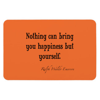 Vintage Emerson Happiness Quote Nectarine Orange Magnet