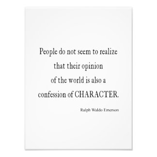 Vintage Emerson Inspirational Character Quote Art Photo