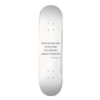 Vintage Emerson Inspirational Character Quote Custom Skateboard