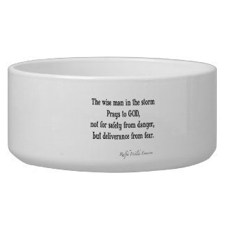 Vintage Emerson Inspirational Courage Quote Bowl