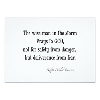 Vintage Emerson Inspirational Courage Quote Card