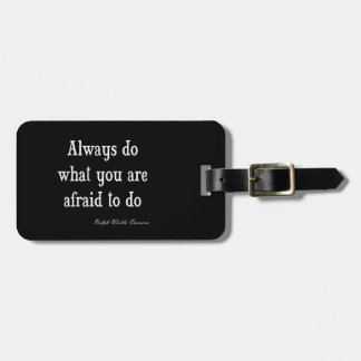 Vintage Emerson Inspirational Courage Quote Luggage Tag