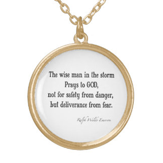 Vintage Emerson Inspirational Courage Quote Pendant