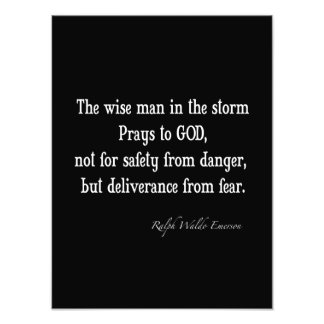 Vintage Emerson Inspirational Courage Quote Photo
