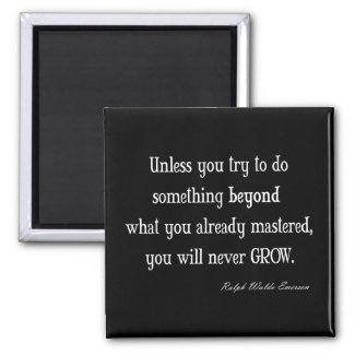 Vintage Emerson Inspirational Growth Mastery Quote