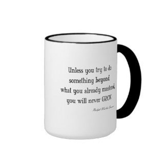 Vintage Emerson Inspirational Growth Mastery Quote Coffee Mugs