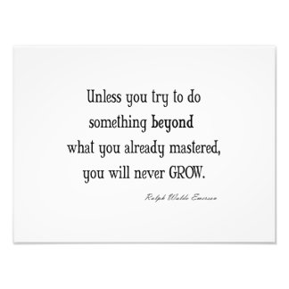 Vintage Emerson Inspirational Growth Mastery Quote Photo Print
