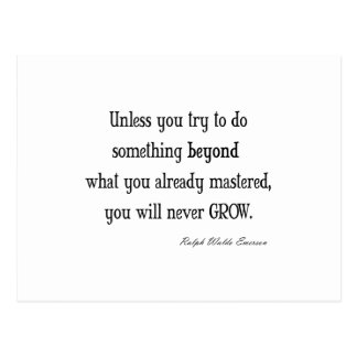 Vintage Emerson Inspirational Growth Mastery Quote Postcard