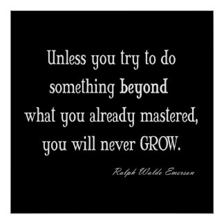 Vintage Emerson Inspirational Growth Mastery Quote Print