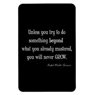 Vintage Emerson Inspirational Growth Mastery Quote Flexible Magnets