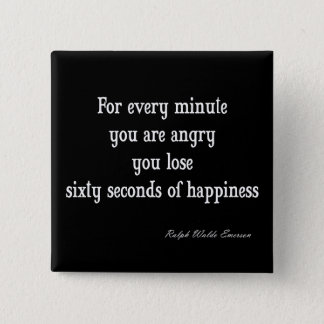 Vintage Emerson Inspirational Happiness Quote Button