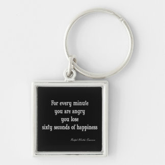 Vintage Emerson Inspirational Happiness Quote Keychain
