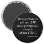 Vintage Emerson Inspirational Leadership Quote 3 Inch Round Magnet