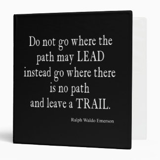 Vintage Emerson Inspirational Leadership Quote 3 Ring Binder