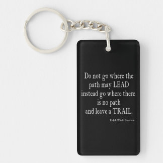Vintage Emerson Inspirational Leadership Quote Keychain