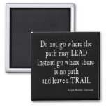 Vintage Emerson Inspirational Leadership Quote Magnet