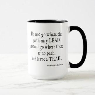 Vintage Emerson Inspirational Leadership Quote Mug